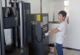 定州国际粮油食品城停车场金属材料拉伸试验